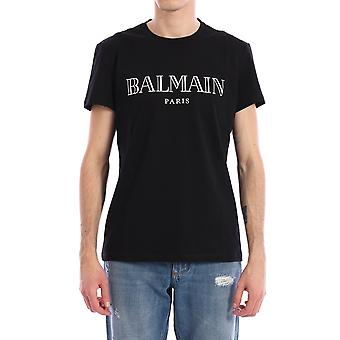 Balmain 11601i3120pa Män's Black Cotton T-shirt