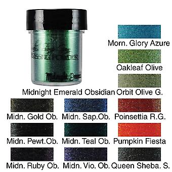 Lindy's Stamp Gang Midnight Pewter Obsidian Embossing Powder