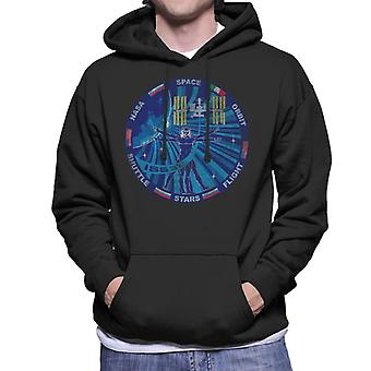 NASA ISS Expedition 37 Mission Badge Distressed Men's Hooded Sweatshirt