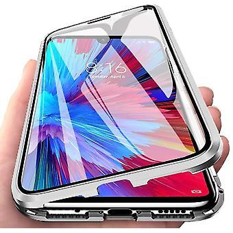 Xiaomi Redmi Bemærk 7/Pro Shell med skærmbeskytter sølv