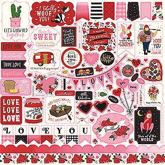 Echo Park Be My Valentine 12x12 Calowy element naklejki