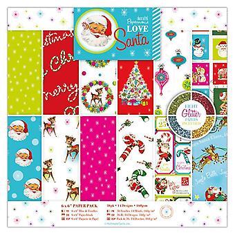 Papermania 6x6 tuuman paperipakkaus Love Santa (36pk) (PMA 160953)