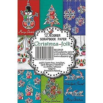 Decorer Joulu Folk Paper Pack