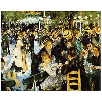 Print on canvas - Ballo Al Moulin De La Galette - Pierre Auguste Renoir - Painting on Canvas, Wall Decoration