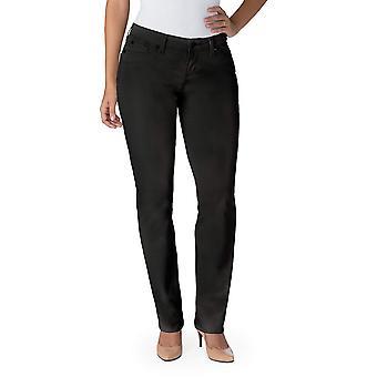 Signature By Levi Strauss & Co Women's Curvy Straight Jeans, Noir, 8 Medium