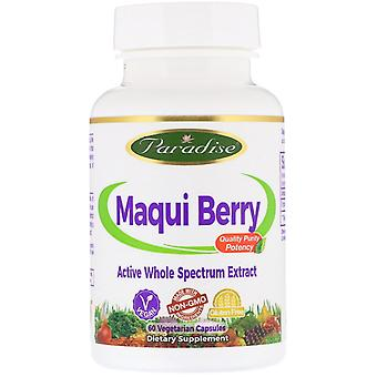 Paradise Herbs, Maqui Berry, 60 capsules végétariennes