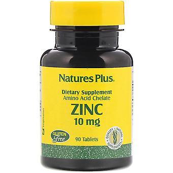Nature-apos;s Plus, Zinc, 10 mg, 90 comprimés