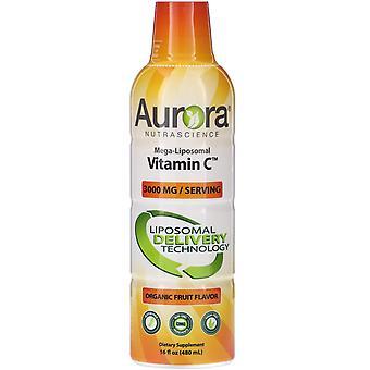 Aurora Nutrascience, Vitamina C mega-liposomica, Sapore di frutta biologica, 3.000 mg, 1