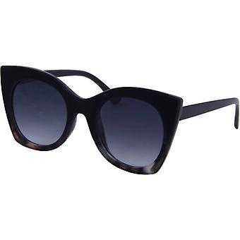 Sonnenbrille Damen  Chic  Kat. 3 geflammt schwarz (6500)