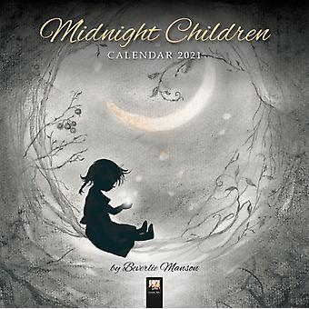 Midnight Children by Beverlie Manson Wall Calendar 2021 Art Calendar by Created by Flame Tree Studio
