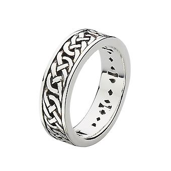 Heritage Sterling Silver Mens Celtic Wedding Band Ring 2264HP026