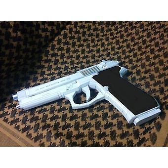 Belletta M9 Pistol Paper Model Weapon Gun- 3d Handmade Drawings Military Jigsaw