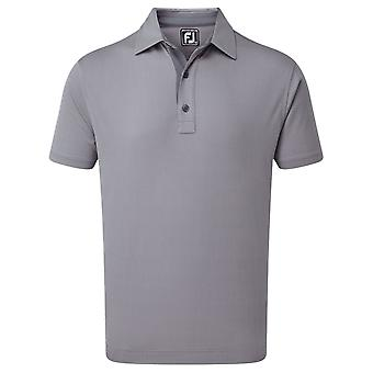 Footjoy Mens Four Dot Jacquard Moisture Wicking Golf Polo Shirt