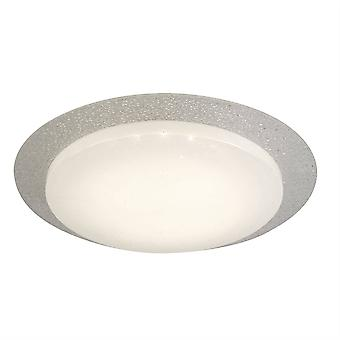 Integrated LED 1 Light Flush Ceiling Light White Glass Shade