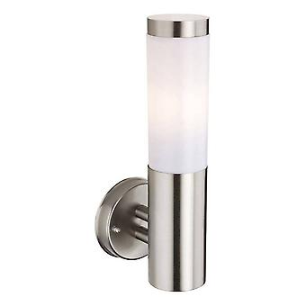Firstlight Plaza - 1 Light Wall Light Inox Steel IP44, E27