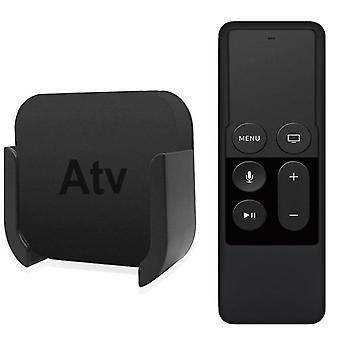 Wall Mount Bracket Holder For Apple Tv 4th And 4k Silicone Siri Remote Control Protection Case