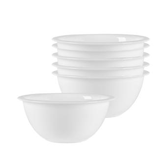 Bormioli Rocco 6 Piece Easy Glass Nesting Mixing Bowl Set - Heavy Duty, Dishwasher and Microwave Safe - 530ml