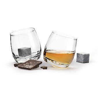 Sagaform Giftset Club whiskeyglas & whiskey stenar