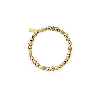 ChloBo Gold Mini Oval Disc Armband GBMOD