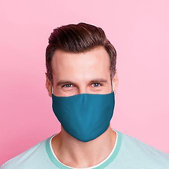 Blauwe herbruikbare gezichtsbedekking - Groot X 1-pakket