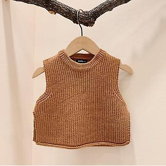 Baby Solid Sleeveless Pullover Sweaters- Baby Knit Vest Sweaters Kids Sweater,