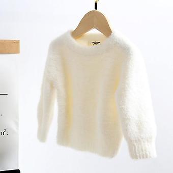 jenter mink kashmir genser gensere- vinter baby barn varm genser frakk,
