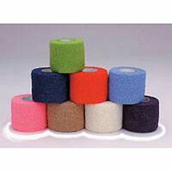Andover Coated Products Cohesive Bandage CoFlex 2 Inch X 5 Yard Standard Compression Self-adherent Closure Neon Pink / Blue, Case of 36