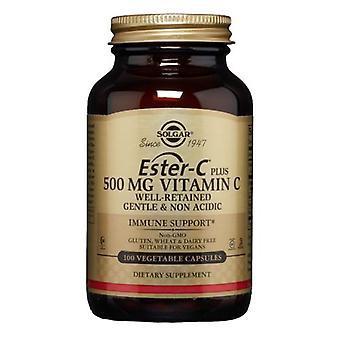 Solgar Ester-C Plus فيتامين C (مجمع استر-سي أسكوربات)، 500 ملغ، 100 V قبعات