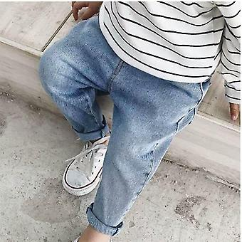 Children's Wear Children's Pants- Spring Autumn Baby Stretch Jeans Boy / Girl Pants