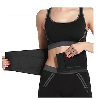 Cinturón trasero entrenador de cintura negro (M)