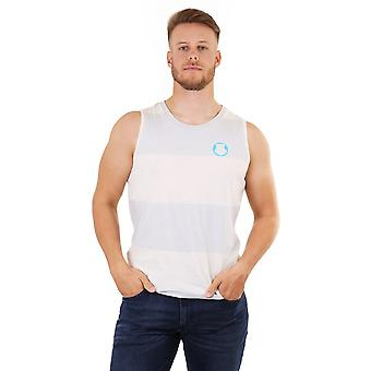 Diesel Mens Stripe Vest With Crew Neck