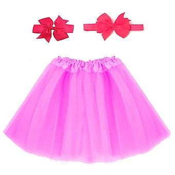 Hot Newborn Infant Sweet Cute Tutu Skirt & Headband Hair Clip Set Photography