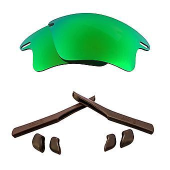 الاستقطاب استبدال العدسات عدة ل Oakley سريع سترة XL مرآة خضراء براون المضادة للخدش المضادة للوهج UV400 SeekOptics