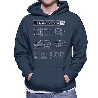 London Taxi Company TX4 Specifications Levc Men's Hooded Sweatshirt