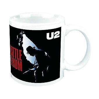 U2 Mug Rattle and Hum album band logo new official white Boxed