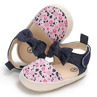 زلة على لينة Sole Prewalker الأحذية الأزهار طباعة