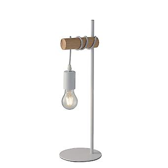 Fan Europe Arizona - Table Lamp, Pine, White, E27