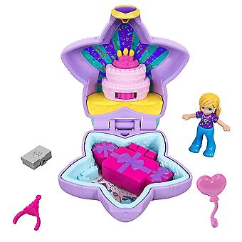 Polly pocket gfm53 tiny pocket places birthday compact, doll & accessories, multicoloured