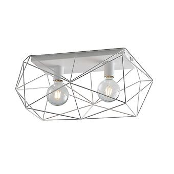 Fan Europe Abraxas - Globe Cage Semi Flush Ceiling Light, Blanc, E27