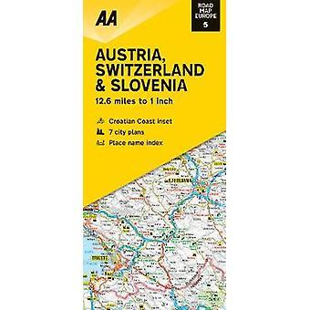 Road Map Austria Switzerland & Slovenia