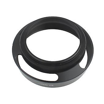40,5 mm metallinen tuulettettu linssihuppu Leicalle (musta)
