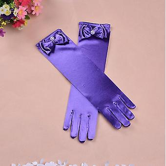 Thin Elastic's Day Professional Dance Gloves Long Lace Bow Tie Accessories
