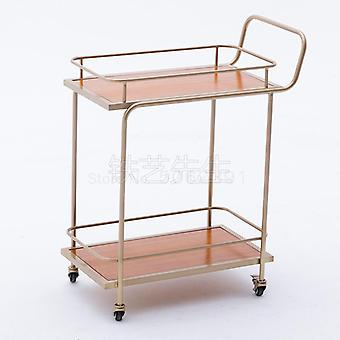 European Golden Hotel Drinking Trolley Restaurant Mobile Delivery Trolley