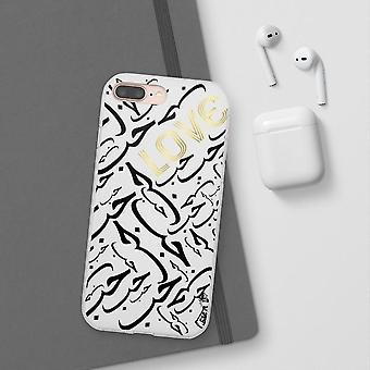 White Arabic Love Iphone Case