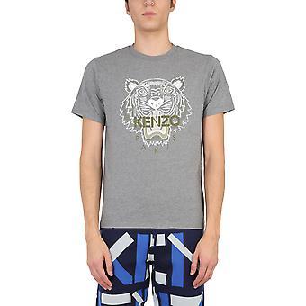Kenzo Fb55ts0204ya95 T-shirt en coton gris Homme&s
