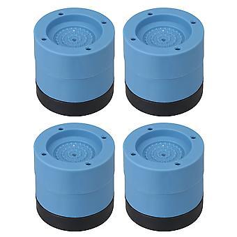 4pcs Waschmaschine Anti Vibration Füße raise 6,5cm Rutsch-Pads blau