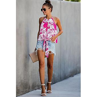 Boxwood Floral Tie Tank Top