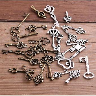 10pcs Vintage Metal Small Key Charms/pingentes