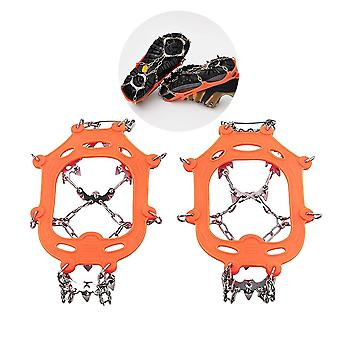 1 Pair 13 Teeth Ice Snow Grips Crampon Winter Hiking Climbing Shoes Cover