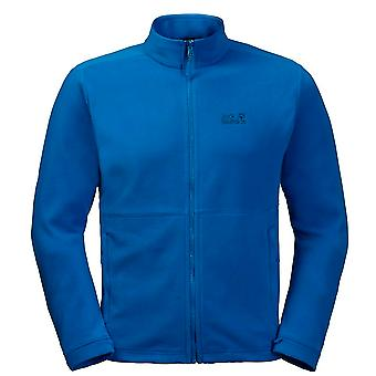 Jack Wolfskin Kiruna Mens Jacket Zip Up Fleece Jumper Blue 1704672 1062